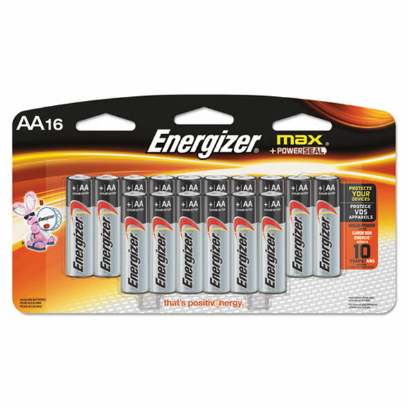 Energizer MAX Alkaline Batteries - EVEE91LP16