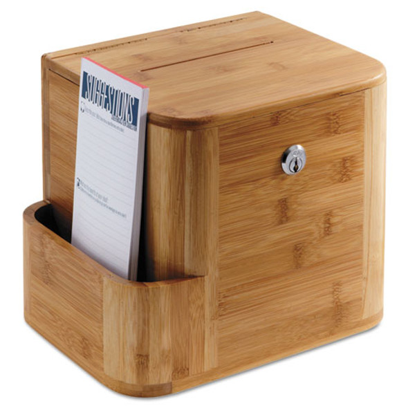 Safco Bamboo Suggestion Boxes - SAF4237NA