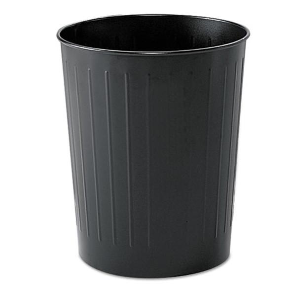 Safco Round Wastebaskets - SAF9604BL