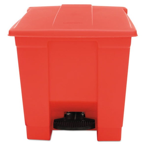 Rubbermaid Commercial Indoor Utility Step-On Waste Container - RCP6143RED