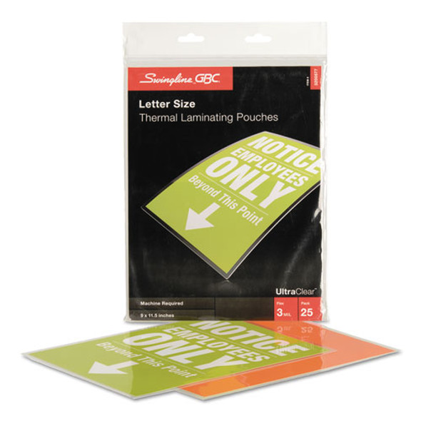 GBC UltraClear Thermal Laminating Pouches - GBC3200577B