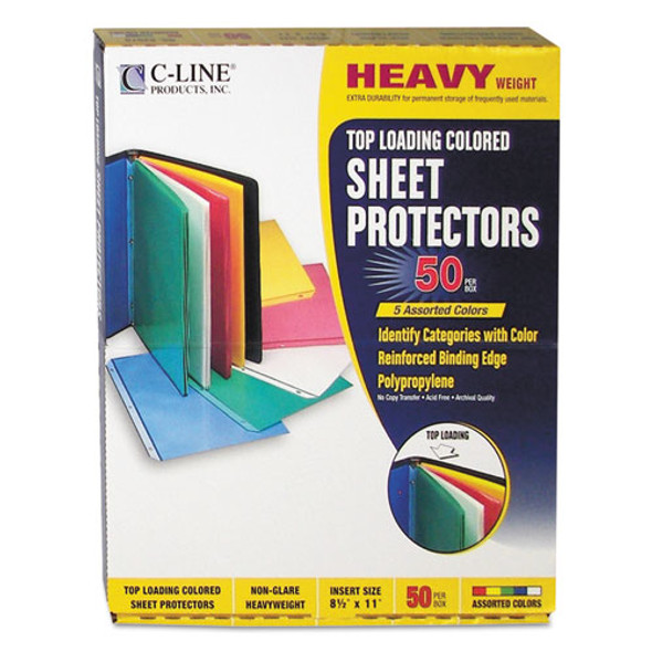C-Line Colored Sheet Protector