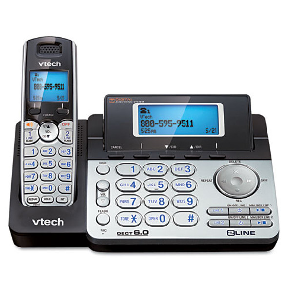 Vtech DS6151 Two-Line Expandable Cordless Phone with Answering System