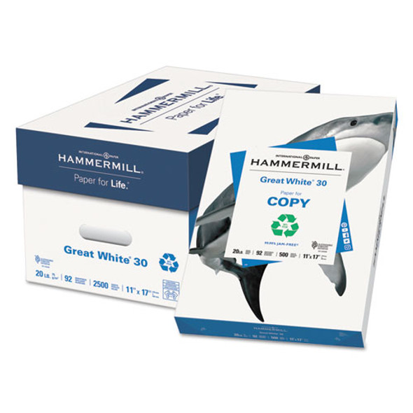 Hammermill Great White 30 Recycled Print Paper - HAM86750