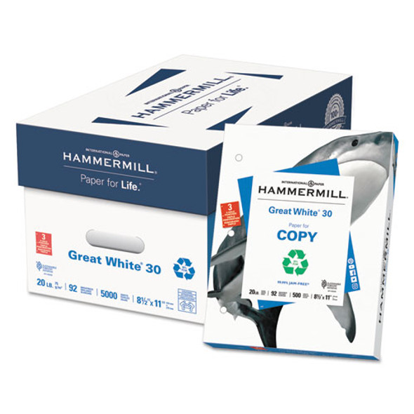 Hammermill Great White 30 Recycled Print Paper - HAM86702
