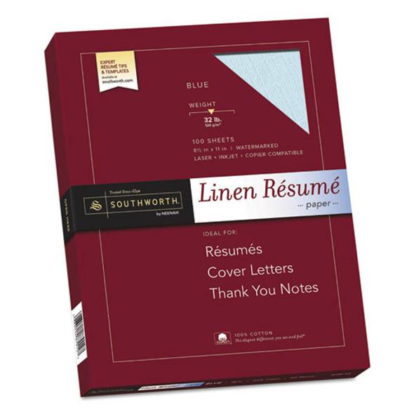 Southworth 100% Cotton Premium Weight Linen Resume Paper - SOURD18BCFLN