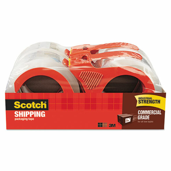 Scotch 3750 Commercial Grade Packaging Tape - MMM37504RD