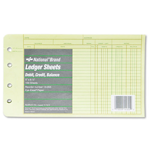 National Four-Ring Binder Refill Sheets