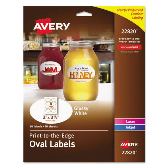 Avery Oval Print-to-the-Edge Labels - AVE22820