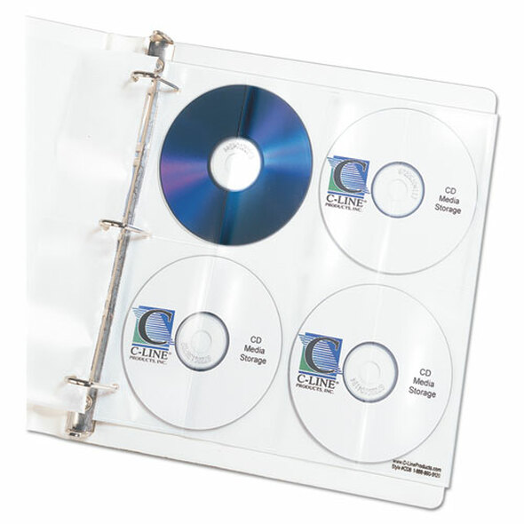 C-Line Deluxe CD Ring Binder Storage Pages - CLI61948