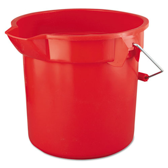 Rubbermaid Commercial BRUTE Round Utility Pail - RCP2614RED