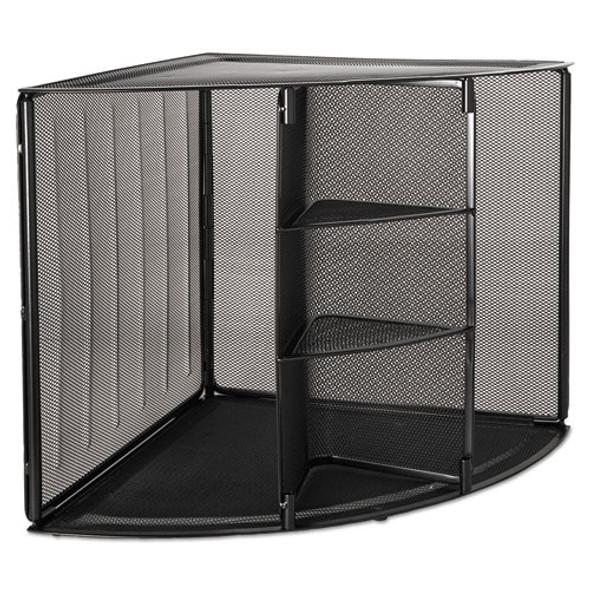 Rolodex Mesh Corner Desktop Shelf
