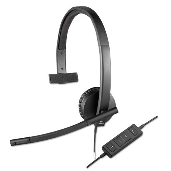 Logitech USB H570e Over-the-Head Wired Headset - LOG981000570