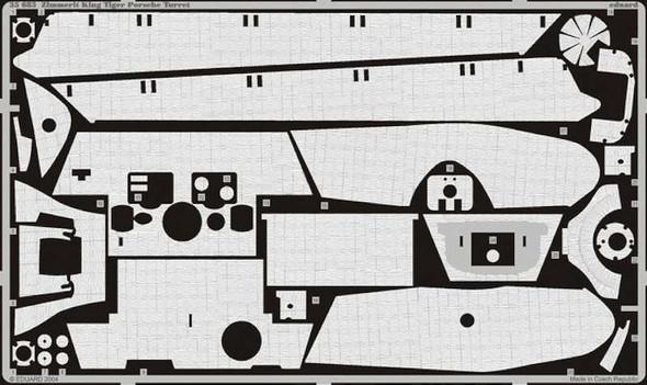 Zimmerit King Tiger Porsche (designed to Be Assembled Wi