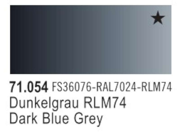 Vallejo Dark Grey Blue Paint, 17ml