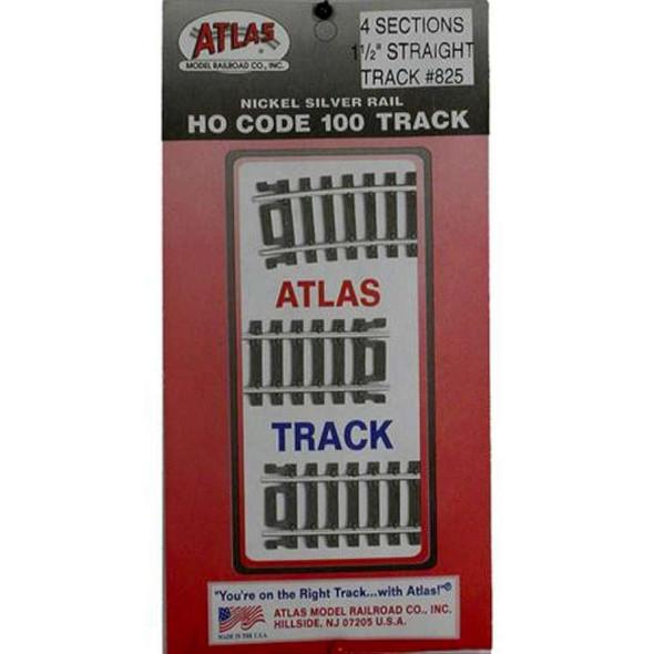 "Atlas Model Railroad HO Code 100 1.5"" Straight (4)"