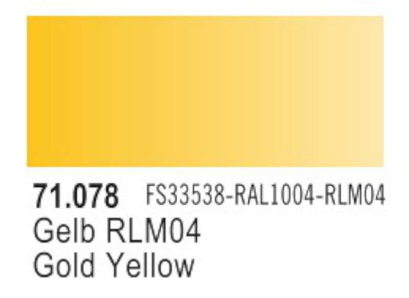Vallejo Acrylic Paint, Gold Yellow