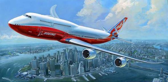 Zvezda - 7010 1/144 Boeing 747-8 - Plastic Model