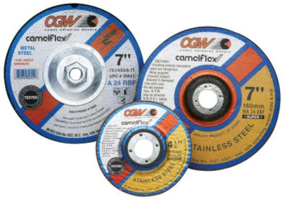 """CGW Abrasives Depressed Center Wheels- 1/4"""" Grinding, Type 27"""