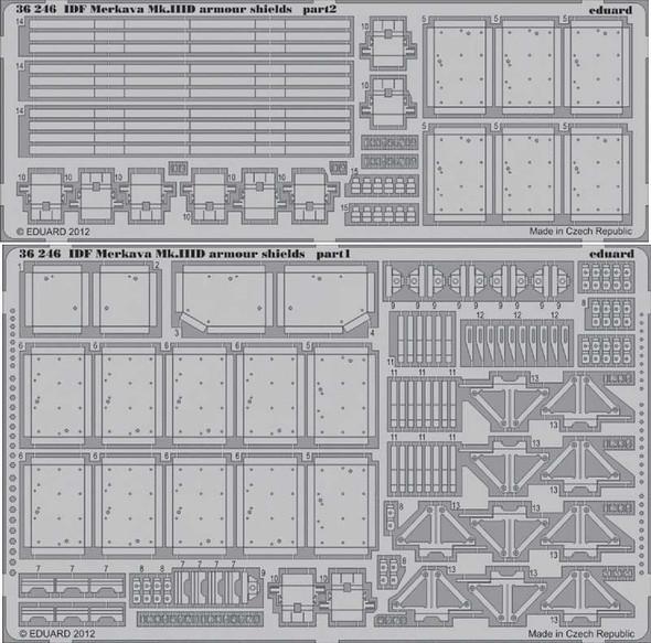 1/35 Armor- IDF Merkava Mk III D Armor Shields for MGK