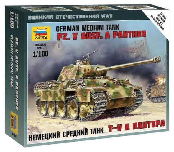 Military Model Kit - Panther Ausf.A- 1:100 -Zvezda