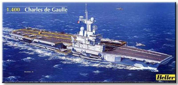 Heller Charles De Gaulle French Aircraft Carrier -- Plastic Model