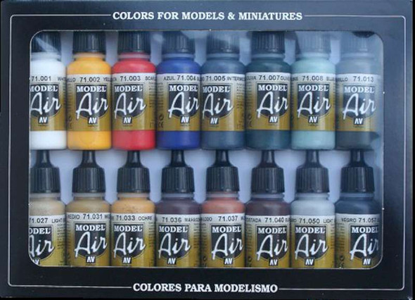 Basic Model Air Colors Set, 17ml by Vallejo, Model Paint
