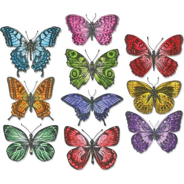 Tim Holtz Framelits Dies 20/Pk Flutter By