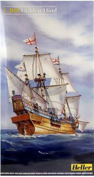 Heller Golden Hind Sailing Ship -- Plastic Model Sailing Ship Kit --
