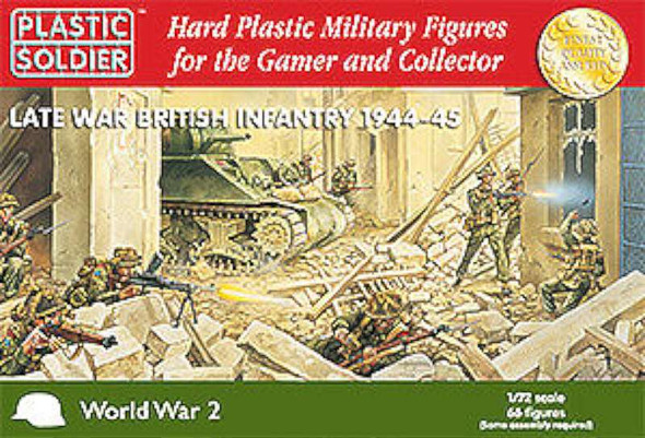 Late WWII British Infantry 1944-45 (66) -- Plastic Model Military Figure -- 1/72 Scale -- #7203