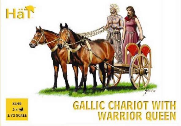 Model Figures - Gallic Chariot with The Warrior Queen- 1:72 -HAT Indus