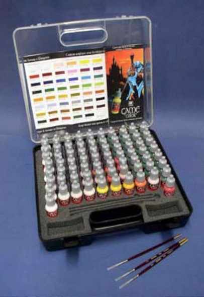 Vallejo Acrylic Paints Game Color Paint Set with Plastic Storage