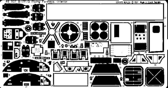 Eduard Models Aircraft- B17F/G Interior -- Plastic Model Aircraft