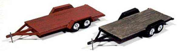 JL Innovative Vintage Wood Deck Tandem Trailers 923
