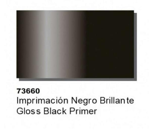 Gloss Black Primer (60ml), 85ml by Vallejo, Model Paint 73660