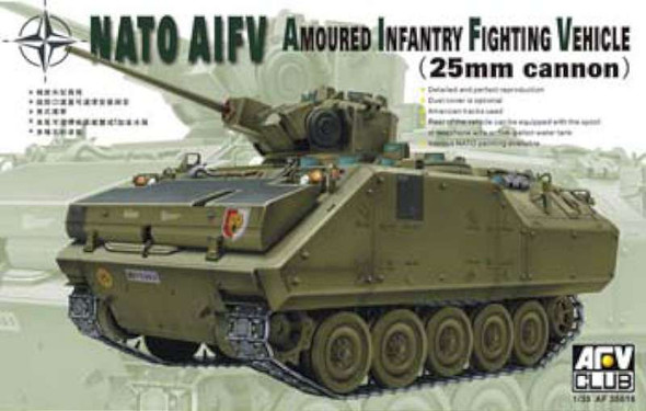 AFV Club 35016 Nato YPR-765 AIFV with 25 mm Turret 1/35 Scale Plastic Model Kit
