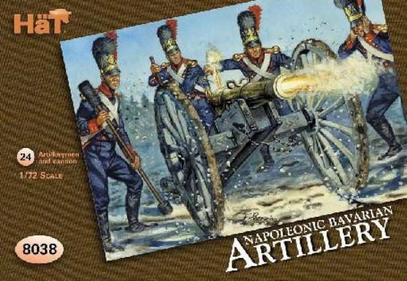 Hat Industries Figures Bavarian Artillery -- Plastic Model Military