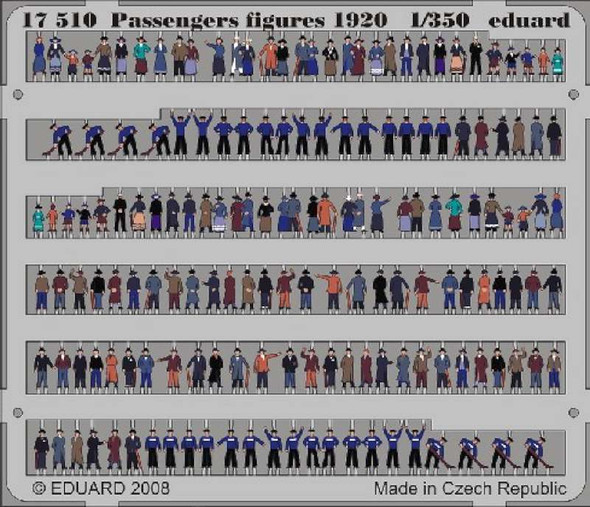 Eduard Photoetch 1:350 - Passengers Figures 1920 1/350 - EDP17510