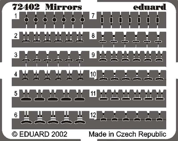 Mirrors- 1:72 -Eduard