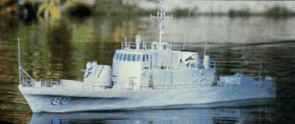 Dumas - 1218 USS Crocket Gun Boat 51 Kit