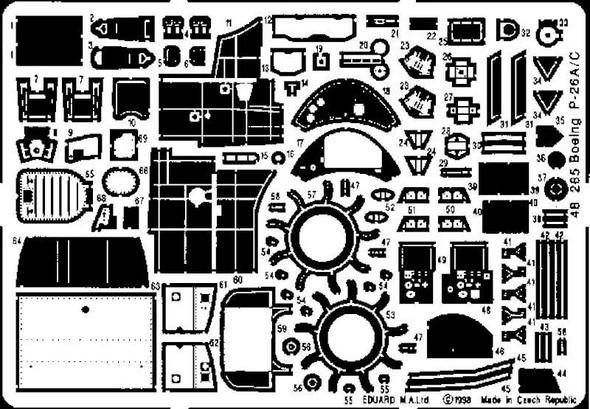 Eduard Models Aircraft- P26A/A -- Plastic Model Aircraft Accessory