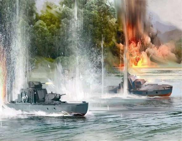 Zvezda - 6164 1/350 Soviet Armored Boat - Plastic Model