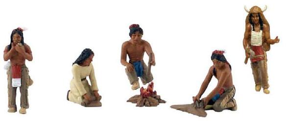 Woodland Scenics SP4343 Native Americans Scene-Setters Figures