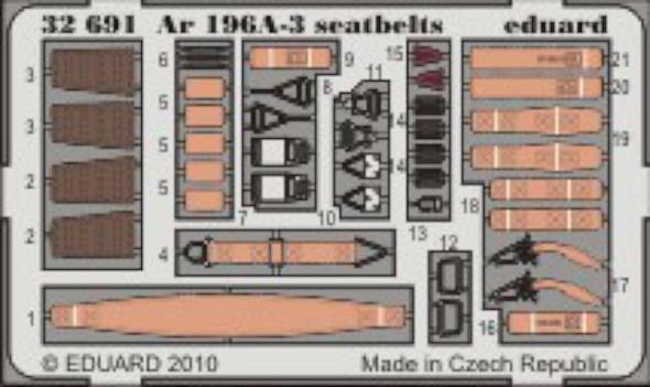 Ar196A3 Seatbelts for TSM (Painted) 1/32 Eduard