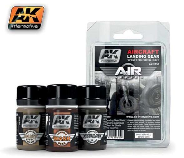 Air Series: Aircraft Landing Gear Enamel Weathering Set (3 Colors) 35ml Bottles