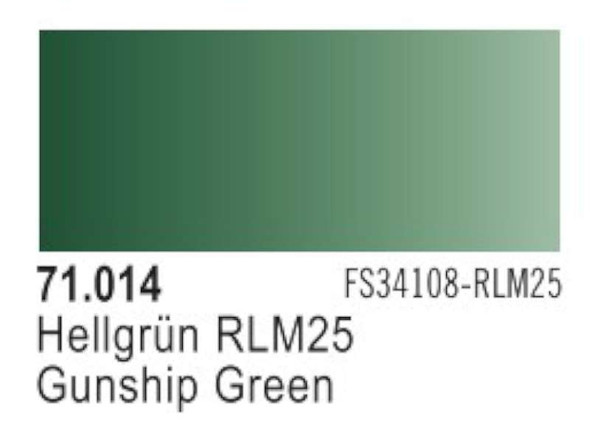 Gunship Green (RAL6020, FS34128, RLM25), 17ml by Vallejo, Model Pain