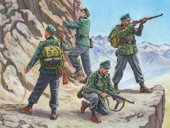 Zvezda German Gebirgsjager 1939-1943 - Scale 1/72 (6154)