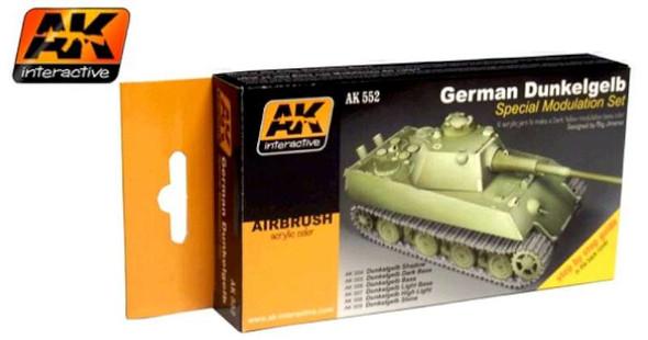 AK Interactive German Dunkelgelb Modulation Acrylic Paint -- Hobby