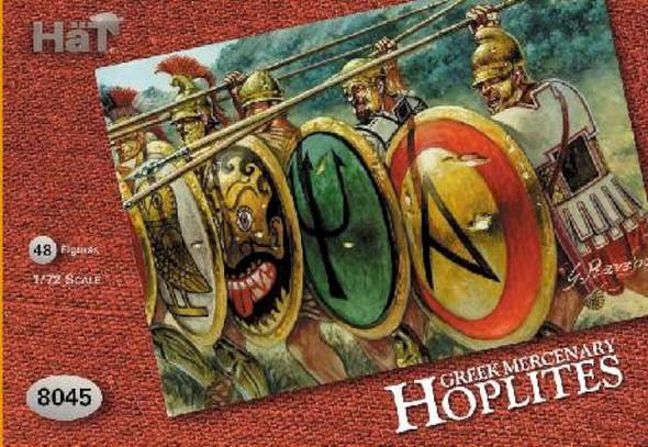 Hat Set 8045 Greek Mercenary Hoplites - 48 Figures Poses 8 Poses - 1/72 Scale Plastic Toy Soldiers
