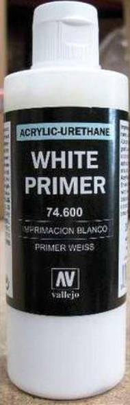 White Surface Primer (200ml), 400ml by Vallejo, Model Paint 74600